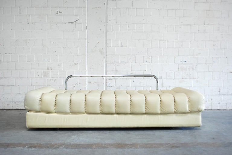 De Sede DS 85 Natural  Daybed Leather Sofa Ecru Crème White For Sale 6