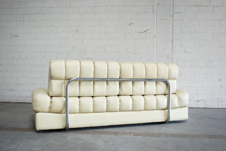 De Sede DS 85 Natural  Daybed Leather Sofa Ecru Crème White For Sale 12