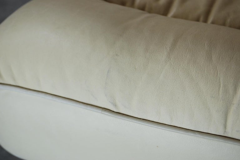 De Sede DS 85 Natural  Daybed Leather Sofa Ecru Crème White For Sale 2