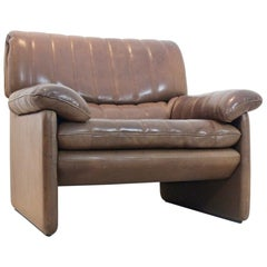 De Sede DS-86 Lounge Chair in Soft Thick Brown Neck Leather