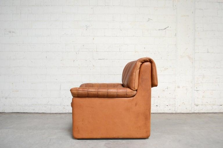 De Sede DS 86 Vintage Cognac Neck Leather Armchair For Sale 4