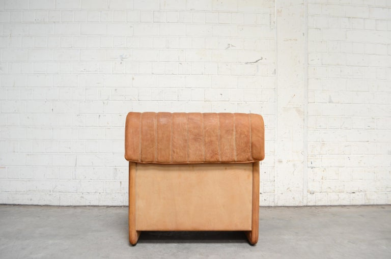 De Sede DS 86 Vintage Cognac Neck Leather Armchair For Sale 5