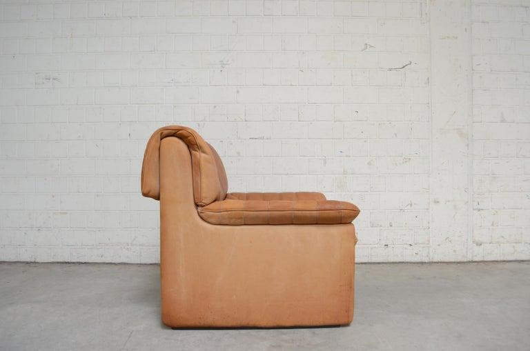 De Sede DS 86 Vintage Cognac Neck Leather Armchair For Sale 6