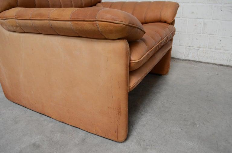 De Sede DS 86 Vintage Cognac Neck Leather Armchair For Sale 7