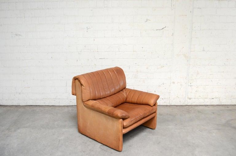 De Sede DS 86 Vintage Cognac Neck Leather Armchair For Sale 8