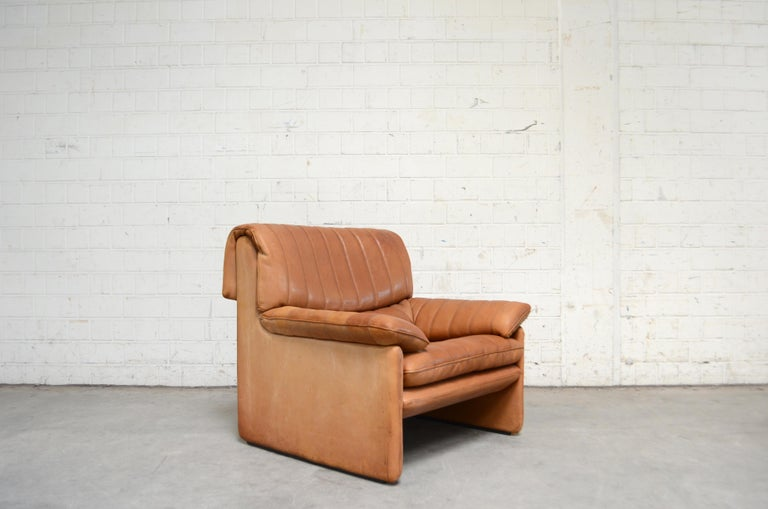 De Sede DS 86 Vintage Cognac Neck Leather Armchair For Sale 9