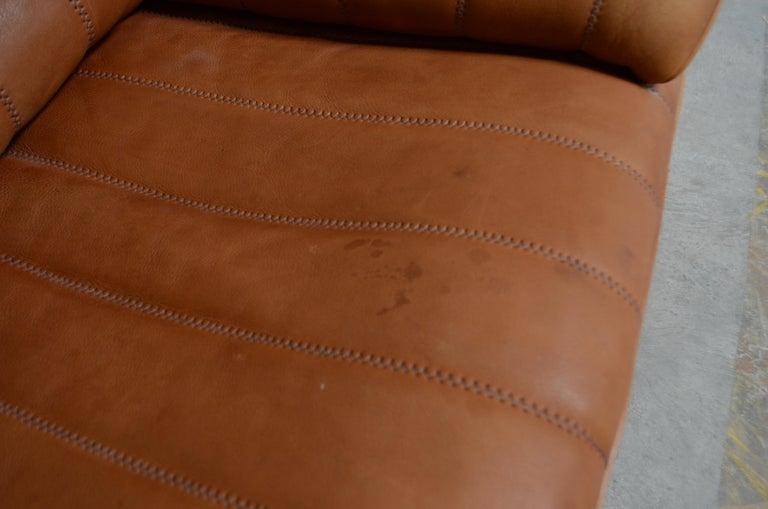 De Sede DS 86 Vintage Cognac Neck Leather Armchair For Sale 10