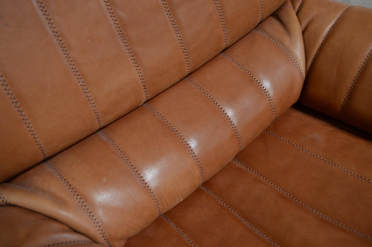De Sede DS 86 Vintage Cognac Neck Leather Armchair For Sale 11