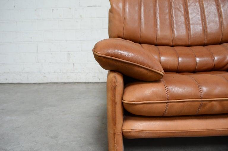 De Sede DS 86 Vintage Cognac Neck Leather Armchair For Sale 12
