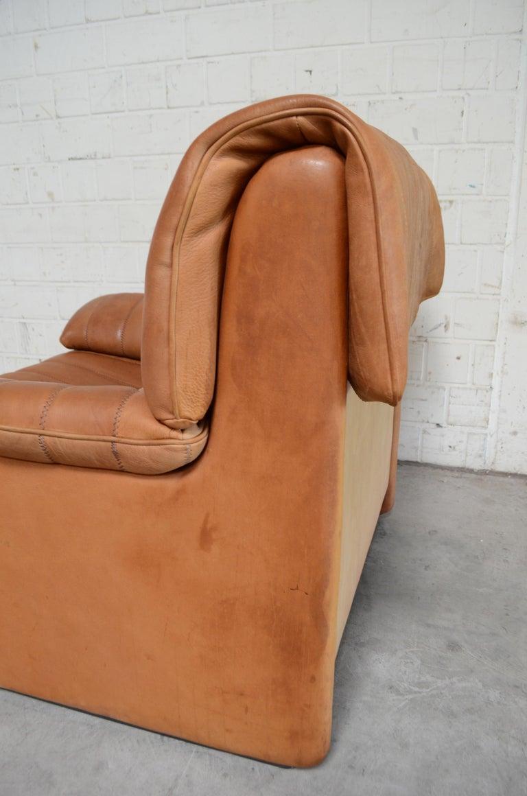 De Sede DS 86 Vintage Cognac Neck Leather Armchair For Sale 13