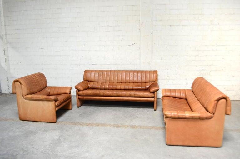 De Sede DS 86 Vintage Cognac Neck Leather Armchair For Sale 14