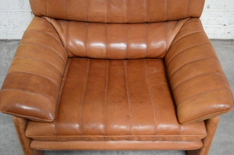 Late 20th Century De Sede DS 86 Vintage Cognac Neck Leather Armchair For Sale