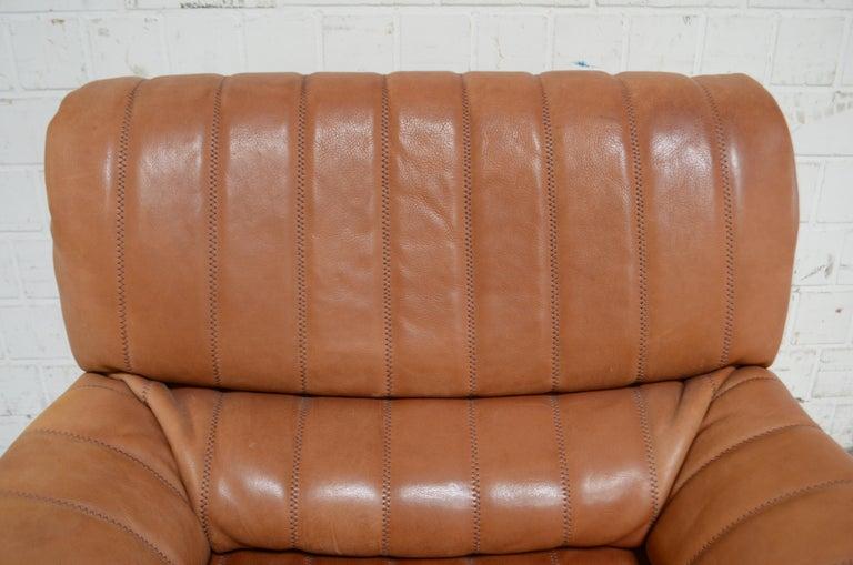De Sede DS 86 Vintage Cognac Neck Leather Armchair For Sale 1