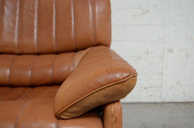 De Sede DS 86 Vintage Cognac Neck Leather Armchair For Sale 2