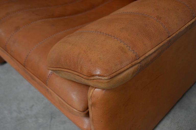 De Sede DS 86 Vintage Cognac Neck Leather Armchair For Sale 3