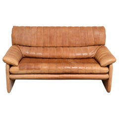 De Sede DS 86 Vintage Cognac Neck Leather Sofa