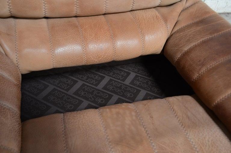 De Sede DS 86 Vintage Neck Leather 2 x Armchair For Sale 4