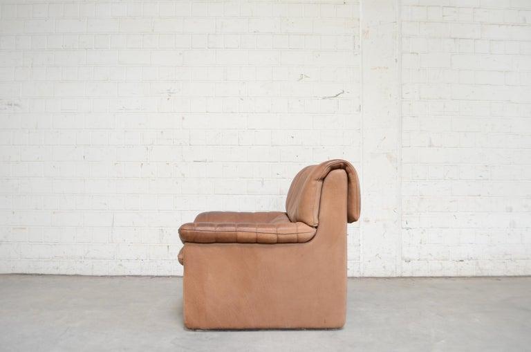 De Sede DS 86 Vintage Neck Leather 2 x Armchair For Sale 5