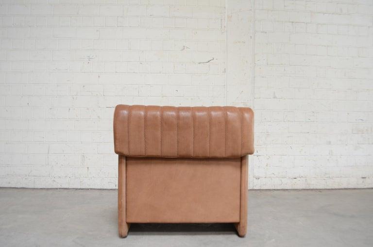 De Sede DS 86 Vintage Neck Leather 2 x Armchair For Sale 6