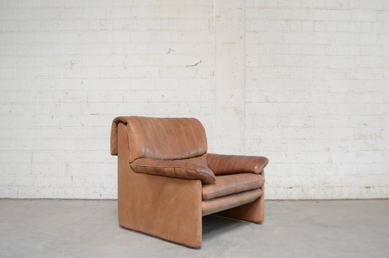 De Sede DS 86 Vintage Neck Leather 2 x Armchair For Sale 7