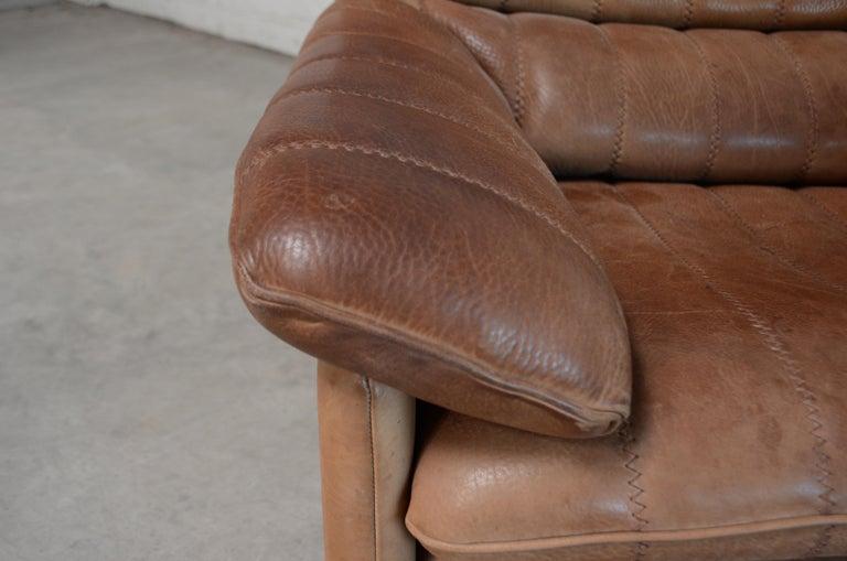 De Sede DS 86 Vintage Neck Leather 2 x Armchair For Sale 8