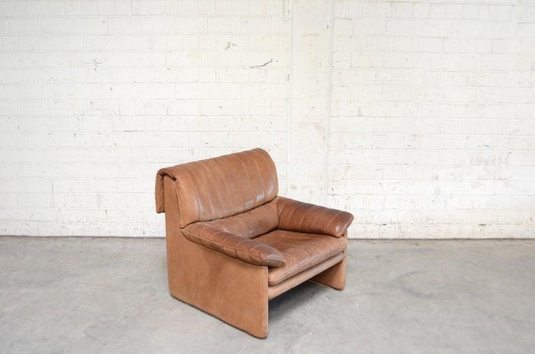 De Sede DS 86 Vintage Neck Leather 2 x Armchair For Sale 9