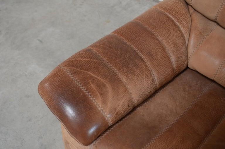 De Sede DS 86 Vintage Neck Leather 2 x Armchair For Sale 11