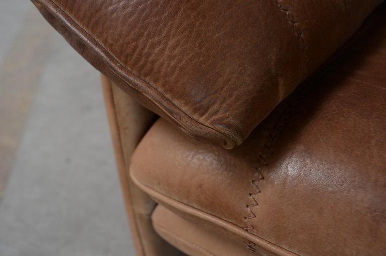 De Sede DS 86 Vintage Neck Leather 2 x Armchair For Sale 12