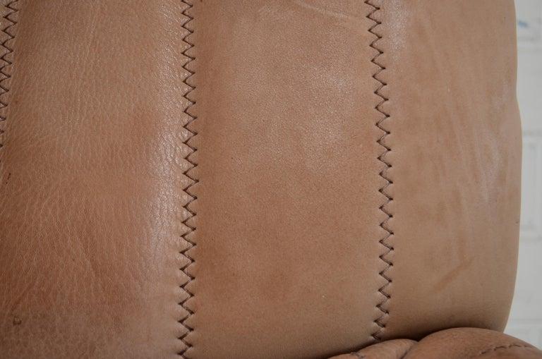 De Sede DS 86 Vintage Neck Leather 2 x Armchair For Sale 13