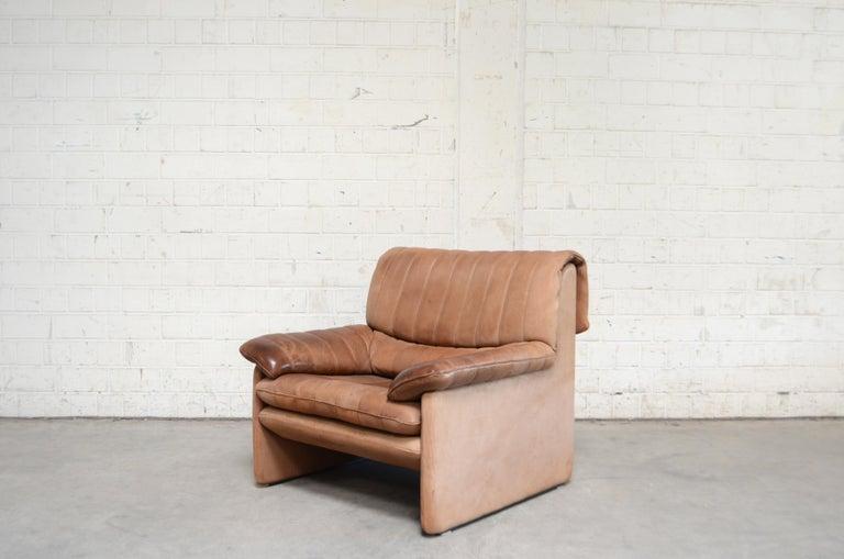 De Sede DS 86 Vintage Neck Leather 2 x Armchair For Sale 14