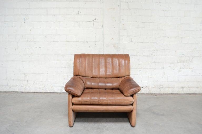 German De Sede DS 86 Vintage Neck Leather 2 x Armchair For Sale