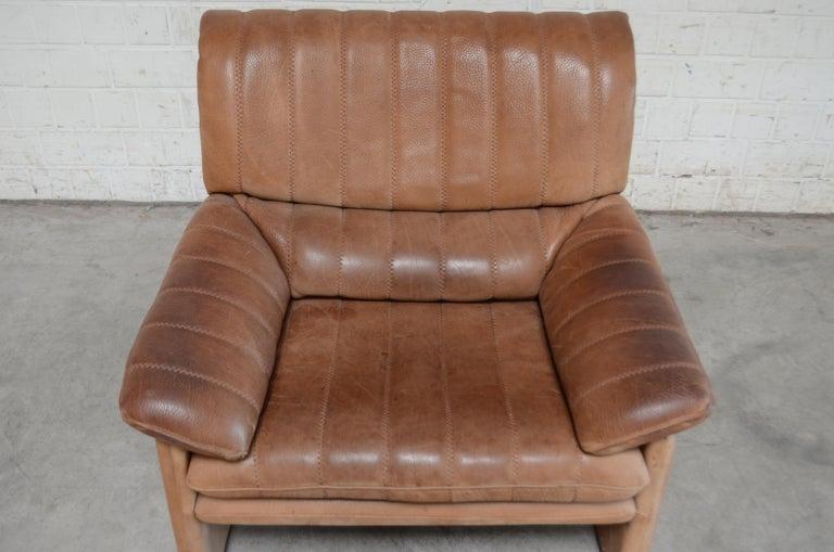 De Sede DS 86 Vintage Neck Leather 2 x Armchair In Fair Condition For Sale In Munich, Bavaria