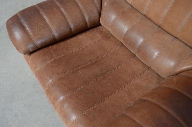 De Sede DS 86 Vintage Neck Leather 2 x Armchair For Sale 1