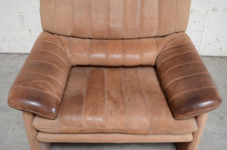 De Sede DS 86 Vintage Neck Leather 2 x Armchair For Sale 3