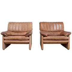 De Sede DS 86 Vintage Neck Leather 2 x Armchair