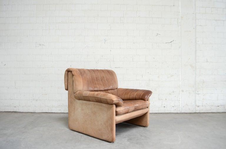 De Sede DS 86 Vintage Neck Leather Armchair For Sale 10