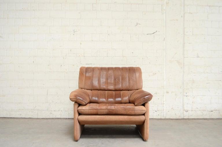 Modern De Sede DS 86 Vintage Neck Leather Armchair For Sale