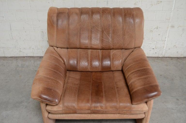 German De Sede DS 86 Vintage Neck Leather Armchair For Sale