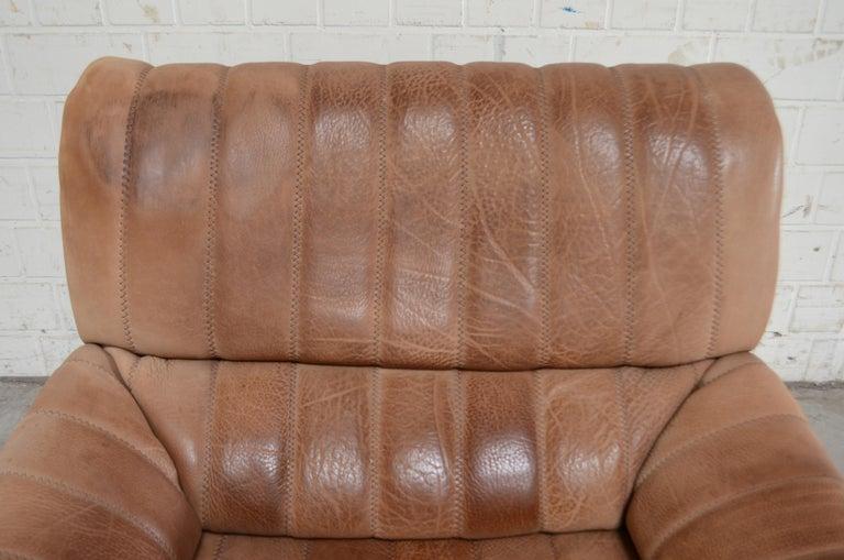 De Sede DS 86 Vintage Neck Leather Armchair In Fair Condition For Sale In Munich, Bavaria