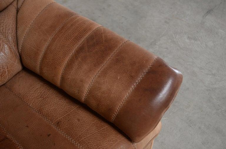 Late 20th Century De Sede DS 86 Vintage Neck Leather Armchair For Sale