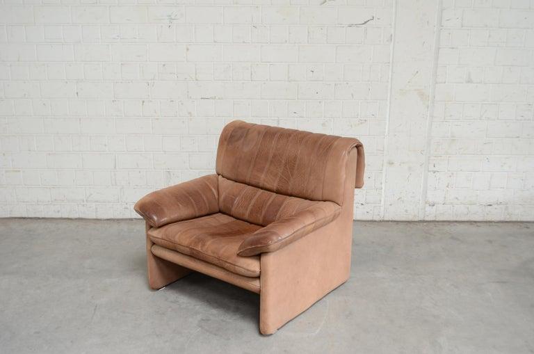 De Sede DS 86 Vintage Neck Leather Armchair For Sale 2