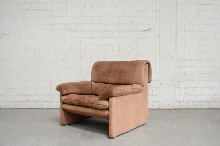 De Sede DS 86 Vintage Neck Leather Armchair For Sale 3