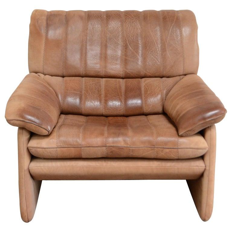 De Sede DS 86 Vintage Neck Leather Armchair For Sale