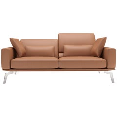 De Sede DS-87 Three-Seat Sofa in Hazel Upholstery by Antonella Scarpitta