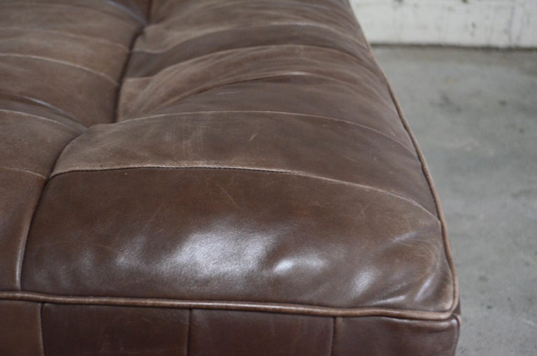 De Sede DS 88 Leather Ottoman or Pouf Patchwork Brown For Sale 1