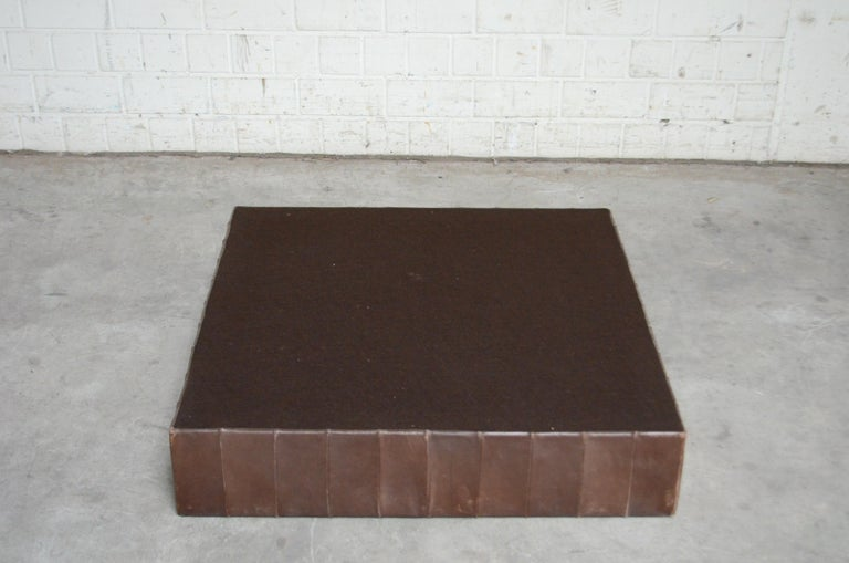 De Sede DS 88 Leather Ottoman or Pouf Patchwork Brown For Sale 2