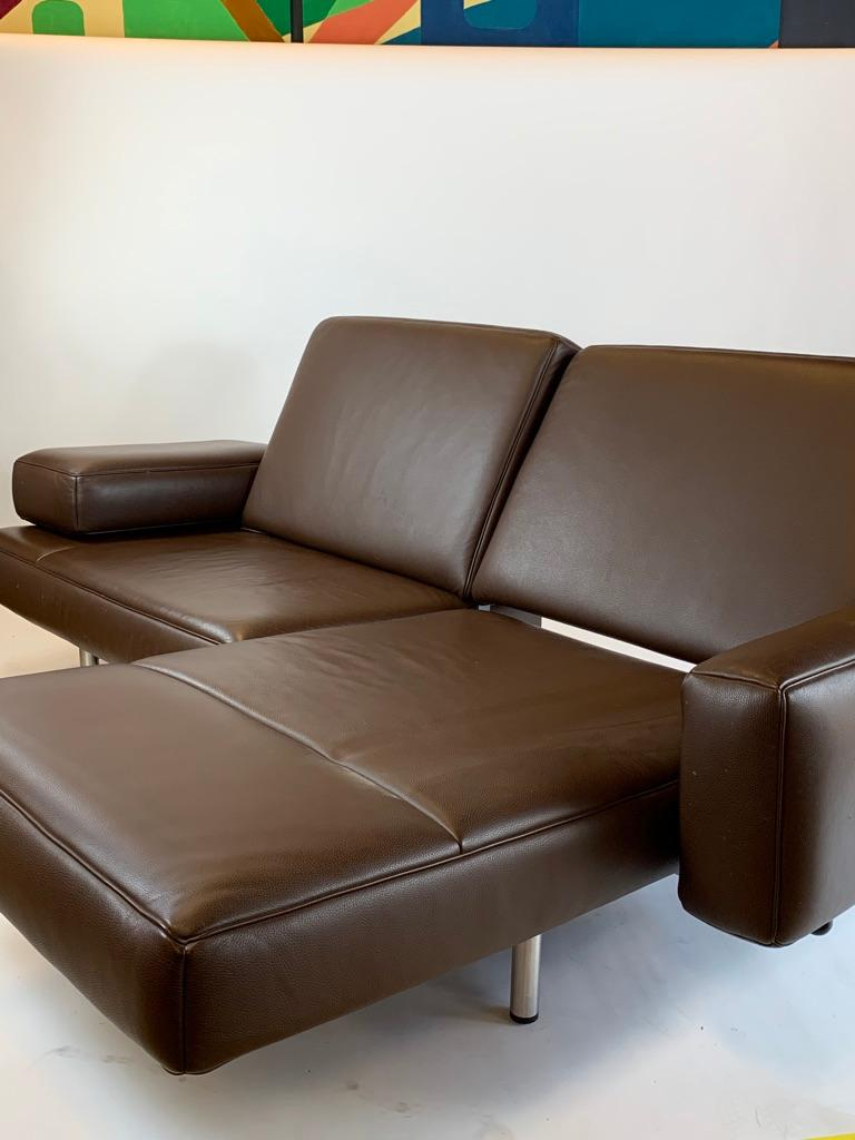 Modern De Sede DS 904 Adjustable Leather Chaise by Braun Maniatis Kirn For Sale