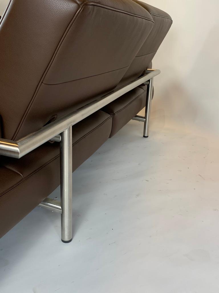 De Sede DS 904 Adjustable Leather Chaise by Braun Maniatis Kirn In Good Condition For Sale In San Leandro, CA