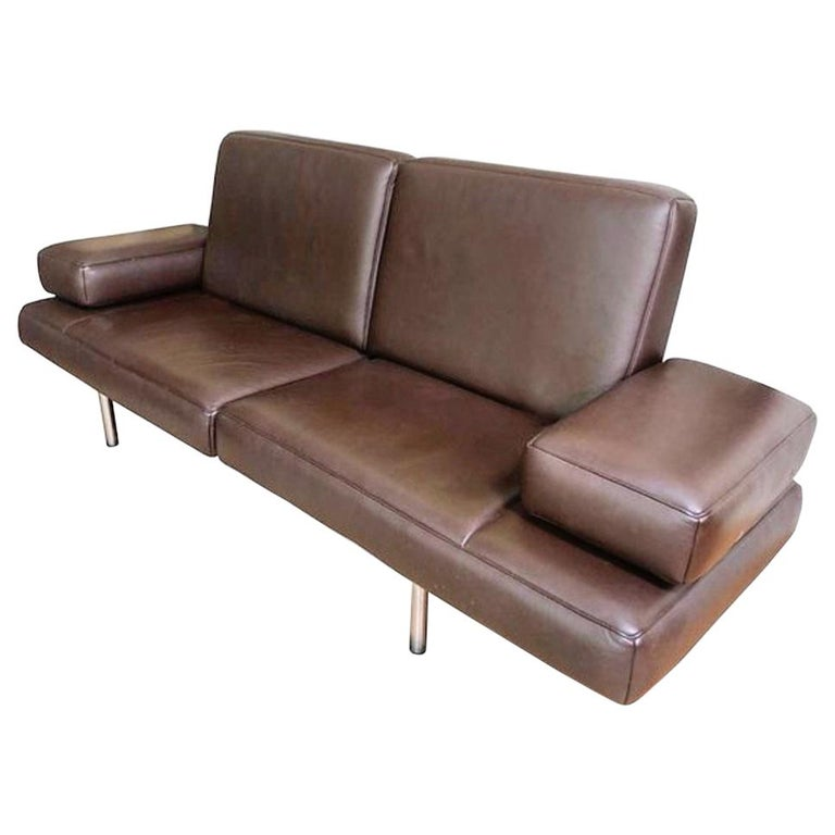 De Sede DS 904 Adjustable Leather Chaise by Braun Maniatis Kirn For Sale