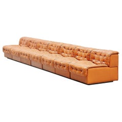 De Sede DS11 Sectional Sofa Natural Leather, Switzerland, 1970